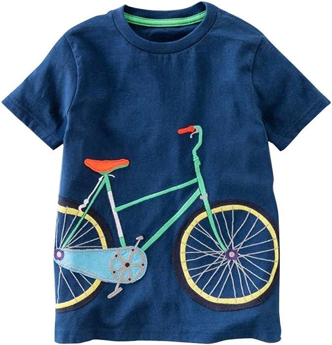 9dc38b9e6a89 Amazon.com  ❤ Mealeaf ❤ Toddler Kids Boys Girls T-Shirt Short ...