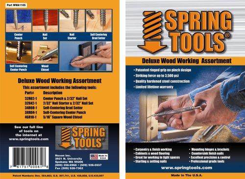 (SpringTools WWA1105 5-Piece Deluxe Woodworking Set)