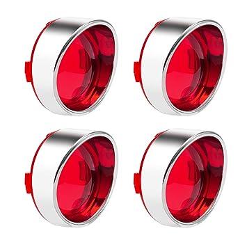 Turn Signal Red Light Lens Cover Bezel For Harley Touring Glide Road King Visor