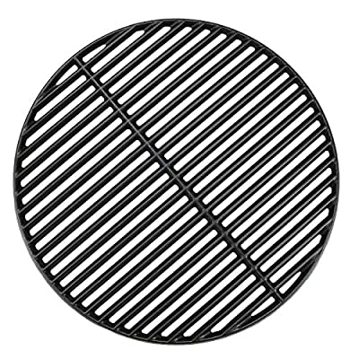 Hisencn 18 3/16 Inches Cooking Grates for Large Big Green Egg/ (L) BGE, Cast Iron Grill Grid Replacement for Vision Grill VGKSS-CC2, B-11N1A1-Y2A Kamado Charcoal Grill