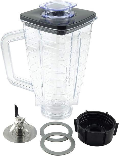 Juego de 6 tarros de plástico de repuesto para batidoras Oster Blenders, 5 tazas: Amazon.es: Hogar