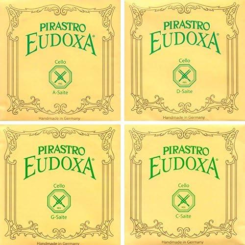 """Pirastro Eudoxa 4/4 Cello String Set -""""Medium"""" Gauge"""