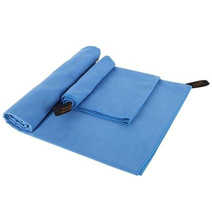 yayoshow 2 unidades Toalla de microfibra absorbente secado rápido antibacteriana toalla de baño (50 x