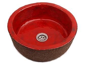 Ida rotes waschbecken cerames waschschale 34 x 13 5 cm