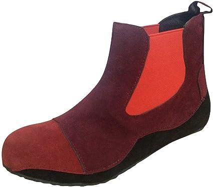 ZODOF botas planas mujer Pisos bota Cómodo Punta redonda Ponerse Tacón bajo Calzado informal Botines de tobillo botas senderismo mujer(rojo,41 EU): Amazon.es: Instrumentos musicales