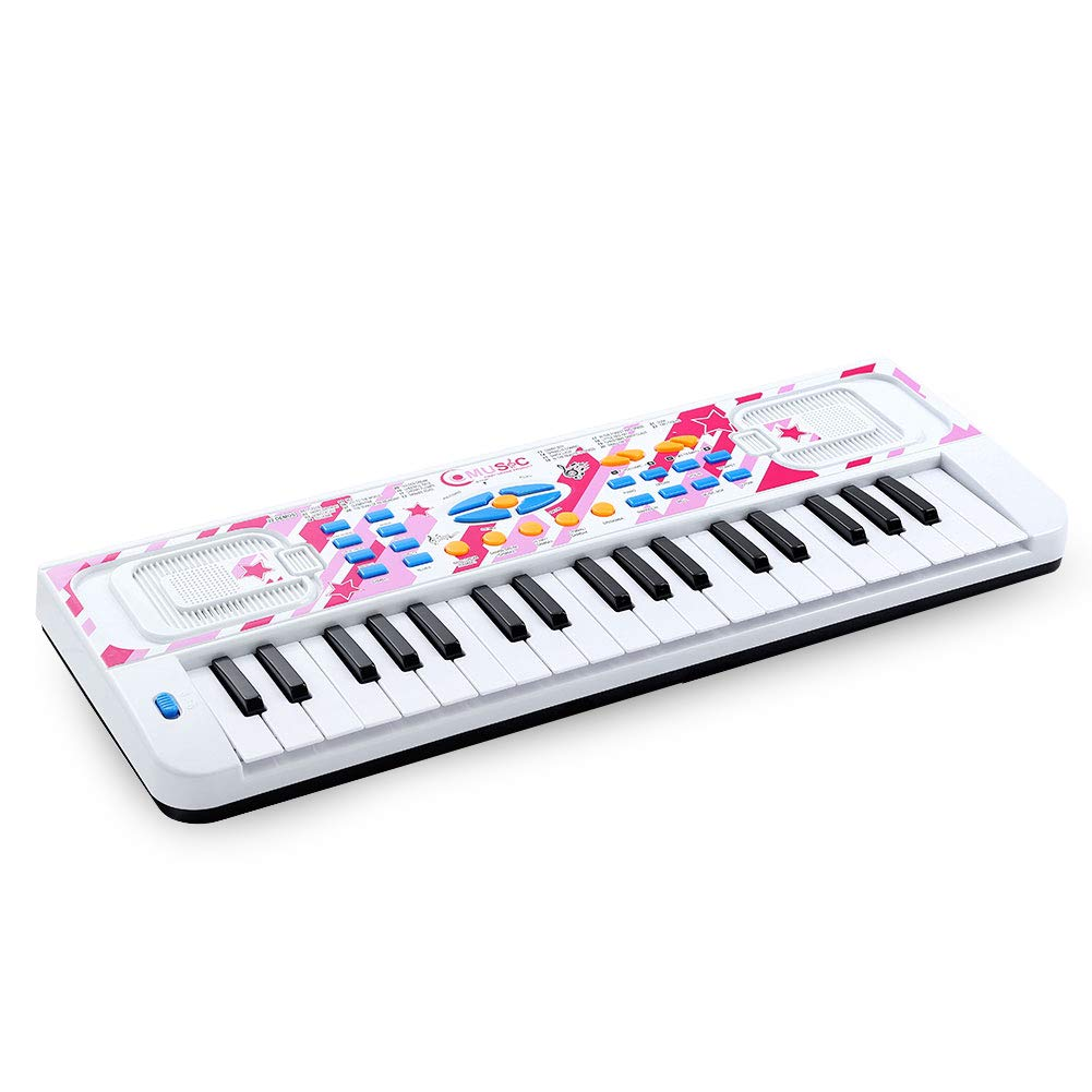 Love&Mini Kids Piano - Portable Electronic Musical Instrument Piano Toy for Toddler Early Learning Educational Keyboard with Microphone