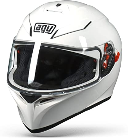 Agv K3 Sv White Motorcycle Helmet Plain Amazon Co Uk Sports Outdoors
