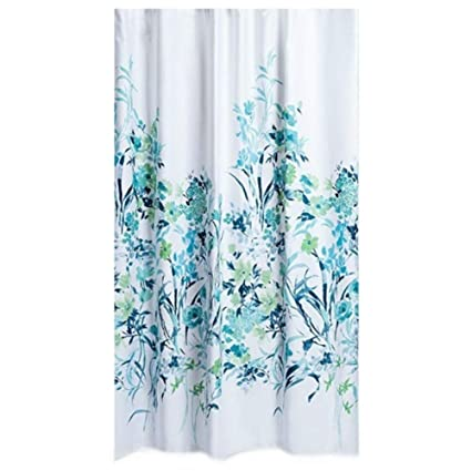 Amazon Caro Homes Botanica Shower Curtain In Teal Color Home