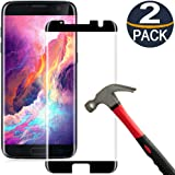 [2 Pack] Samsung Galaxy S7 Edge Screen Protector Tempered Glass [Case Friendly][Anti Scratch][3D Curved][3D Full Coverage][HD Clear] Coolpow Tempered Glass Screen Protector for Samsung Galaxy S7 Edge