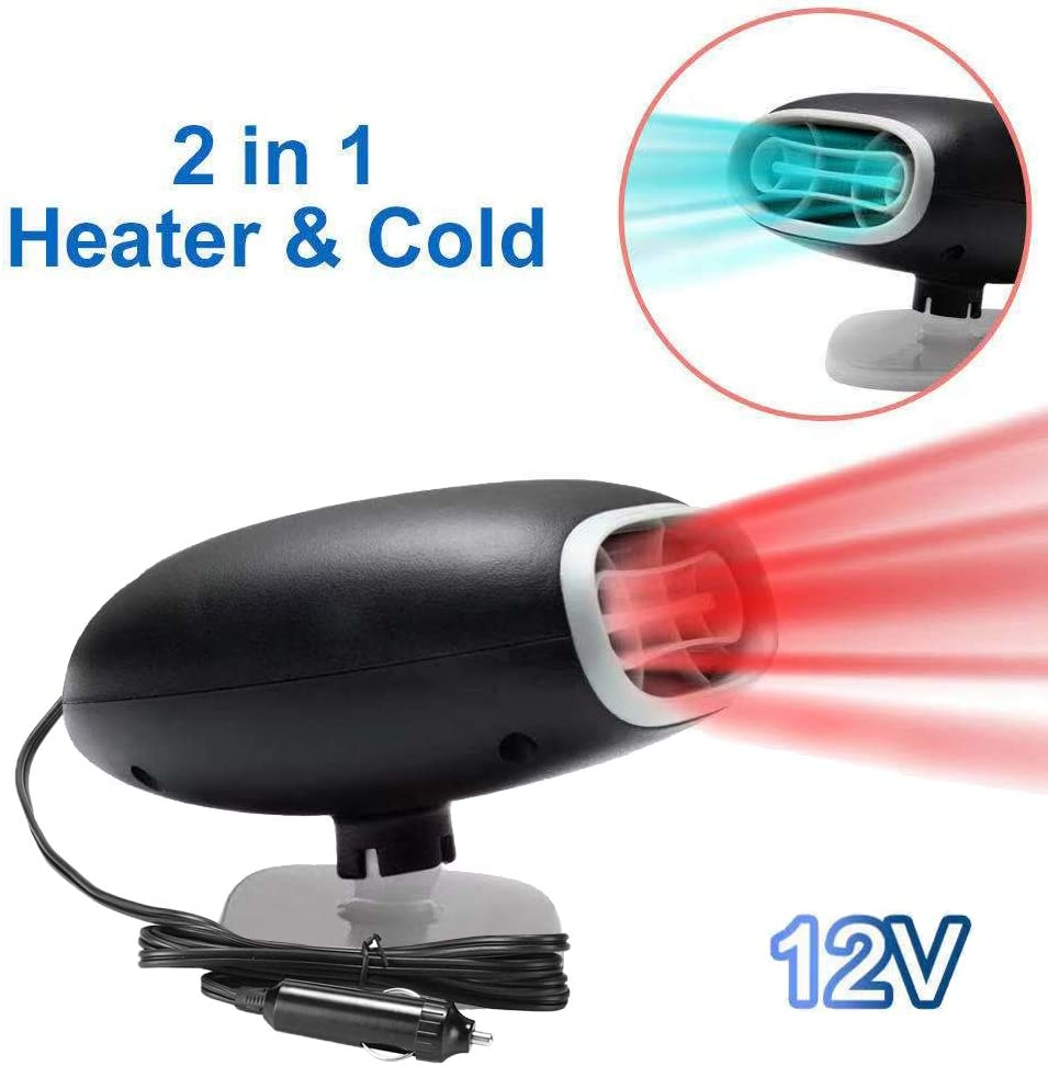 Portable Auto Electronic Heater Fan Fast Heating Defrost 150W Car Defrost Defogger red2 Car Heater 12V 2 in 1 Heating//Cooling Function