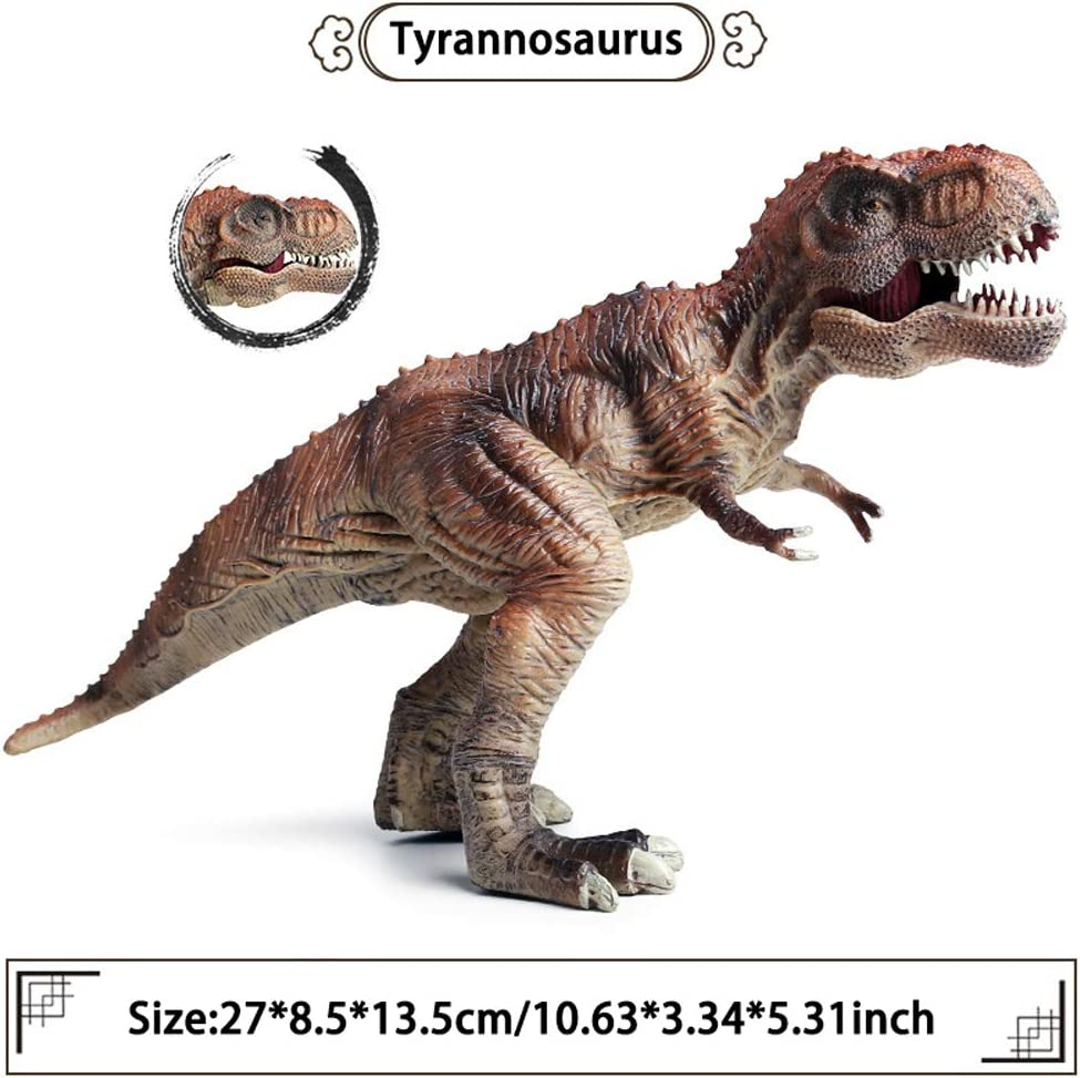 FLORMOON Dinosauri Giocattoli Articoli per Feste per Bambini Decorazioni per Torte di Compleanno Mascella Mobile Realistico Tirannosauro Dinosaur- Figure di Dinosauri in plastica