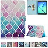 UUcovers(TM) Galaxy Tab A 8.0 inch T350 Case -Ultra Slim Premium Leather Shockproof Flip folio Smart Shell with auto sleep/wake function(NOT FIT for Samsung Galaxy Tab 4 8.0-T330)(Gradient)