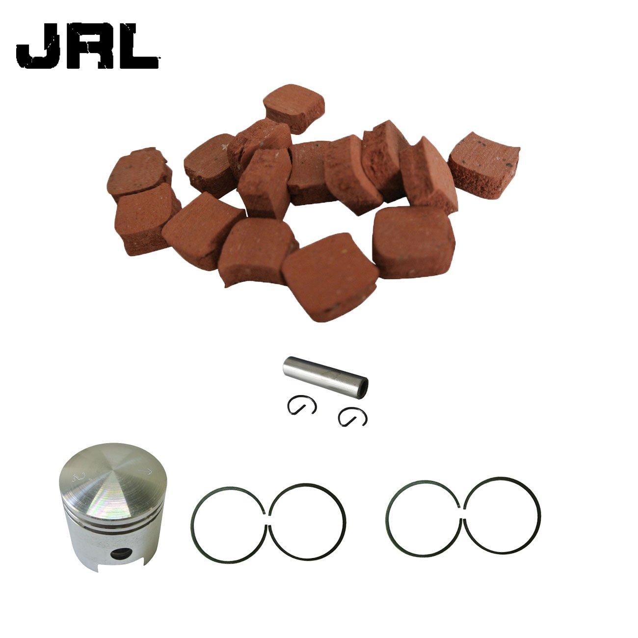 jrl 15pcs cuadrado almohadillas de embrague y cartucho de pistó n 4 piezas de anillo de pistó n (para 49/66/80cc motorizado bicicleta Huang Machinery