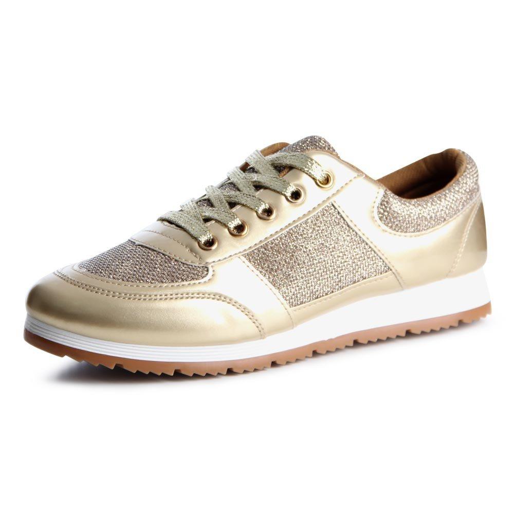 topschuhe24 - Zapatillas de Otros para Mujer, Color Dorado, Talla 37 EU