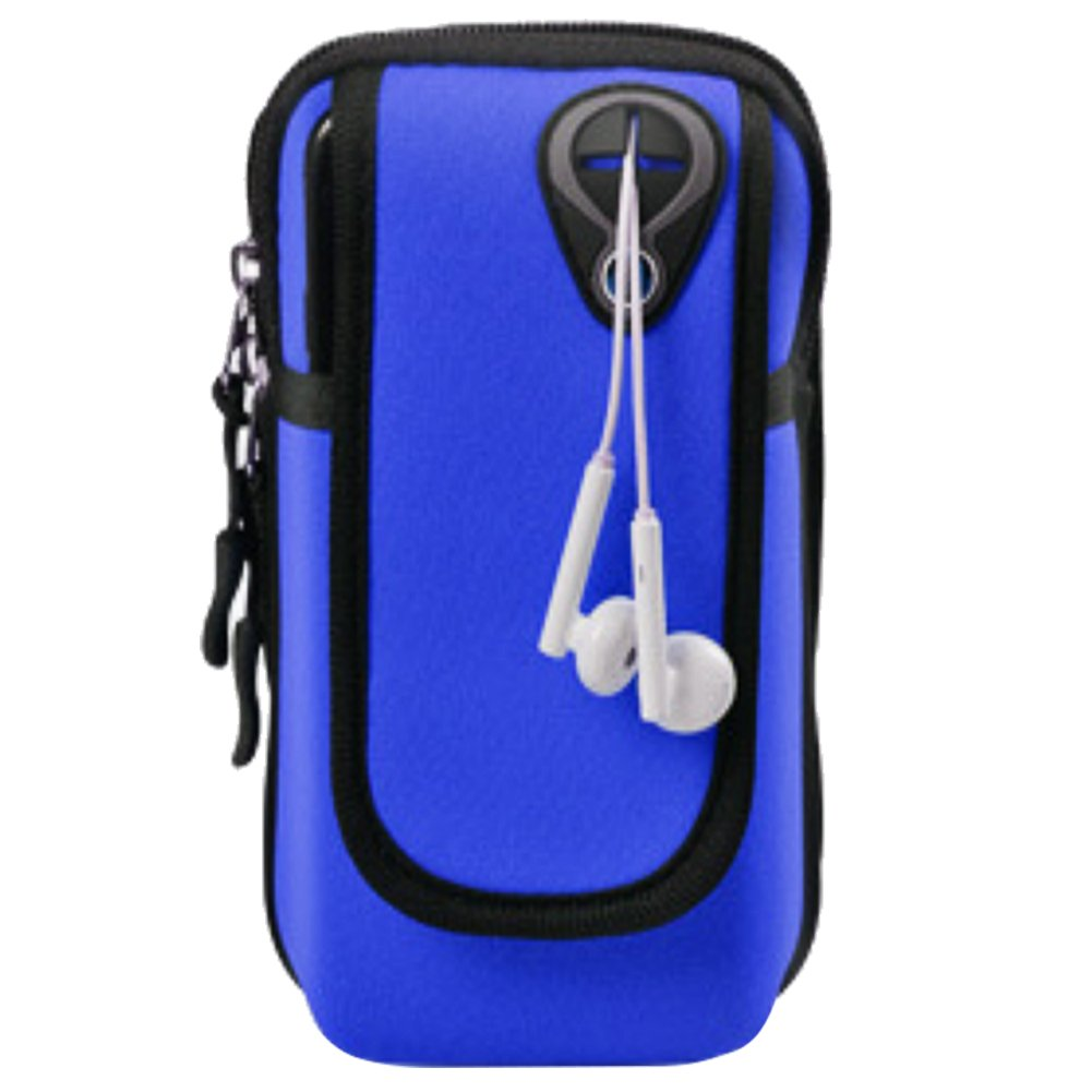 Running Gym Universal Smartphone Arm Wrist Bag Waterproof with Earphone Hole for iPhone Xs Max 8 7 6S 6 Plus,Samsung Galaxy S9 Plus Note 9 8 and All 3.5-6.2 Smartphone WATACHE Sports Armband Blue