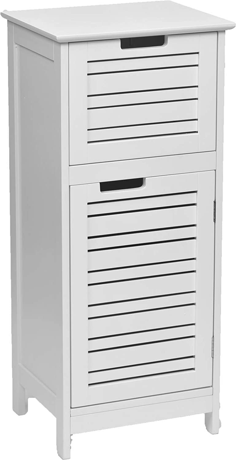 Tendance Miami MDF Door Cabinet 1 Drawer on The Top, Wood, White, 36.5x30x83 cm 9902300