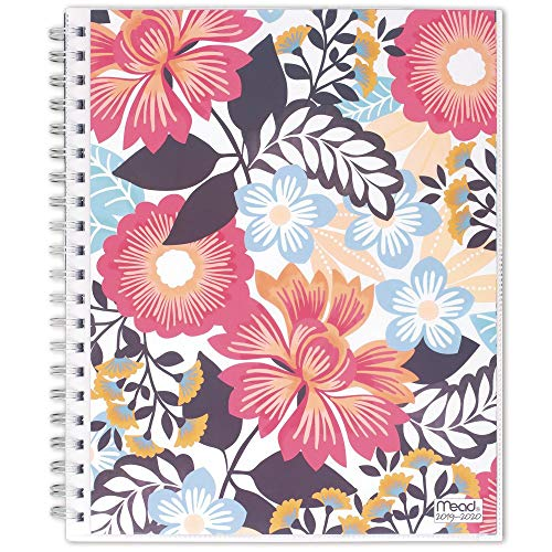 "Mead 2019-2020 Academic Year Weekly & Monthly Planner, Large, 8-1/2"" x 11"", Animal Floral, Multicolor (1210-901A)"