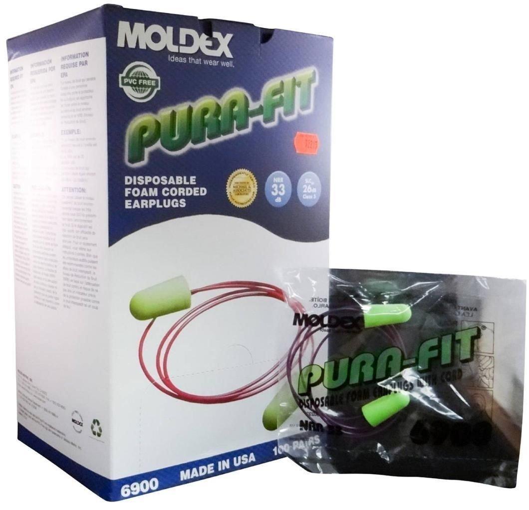 Moldex 6900 Pura-Fit Disposable Ear Plugs - Green MS92215 (2 Boxes) by Moldex   B00O9O2FUG