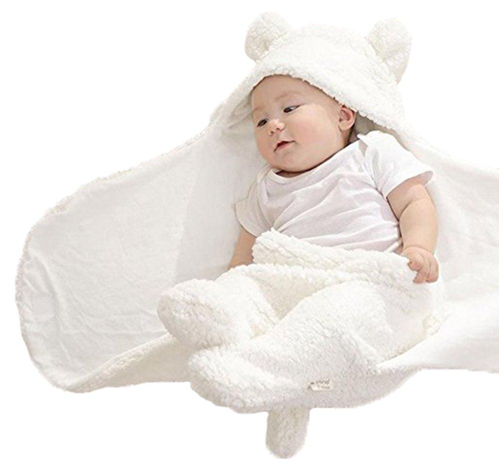 Newborn Baby Boys Girls Cute Cotton Plush Receiving Blanket Sleeping Wrap Swaddle by Pinleck (Image #2)