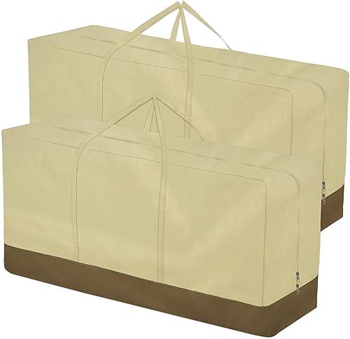 HOOGC 2-Pack Patio Cushions Storage Bag