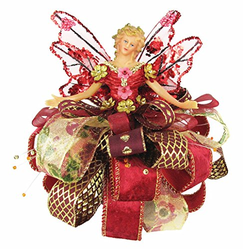 Christmas Tree Angel Topper, Burgundy, 7.5