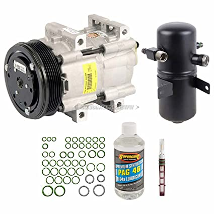 AC Compressor w// A//C Repair Kit For Ford F Super Duty F-150 F-250 F-350