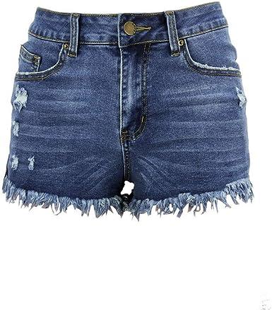 Qinmmropa Vaqueros Rotos Cortos Para Mujer Y Nina Pantalones Cortos Ajustados Boyfriends Rotos Short Jeans Mujeres Sexy Pantalon Amazon Es Ropa Y Accesorios