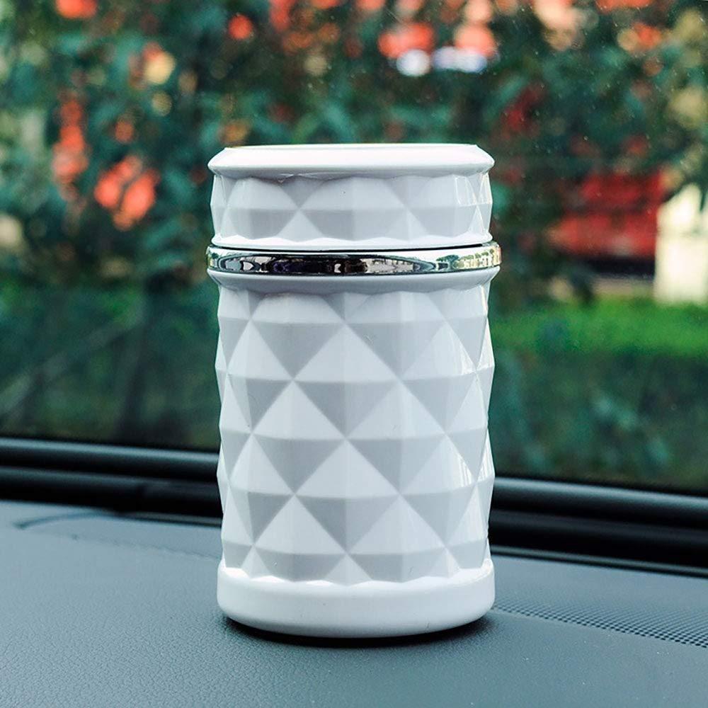 d/écoration int/érieure l/ég/ère de voiture /à coque double cendrier mobile de voiture /à facettes de diamant Poubelle de voiture avec couvercle plac/ée /à la porte de la voiture ou /à c/ôt/&eacu