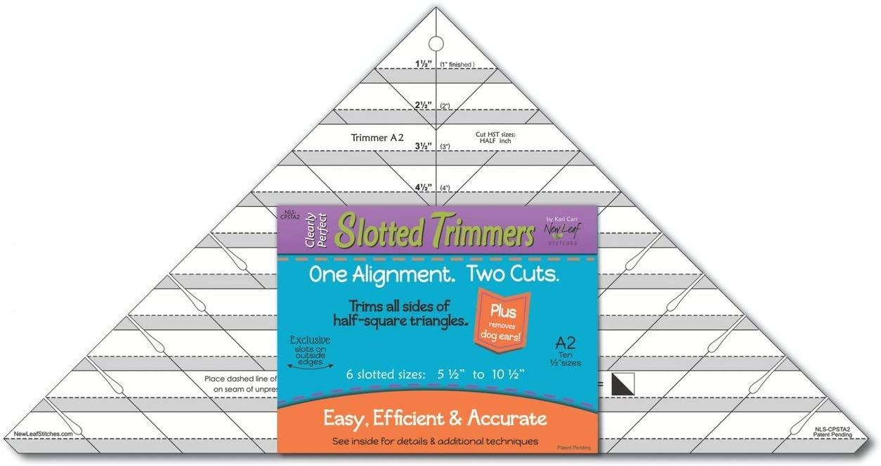 Clearly Perfect Slotted Trimmer A2~ Acrylic Quilting Template ~Trim up to 10 1//2 Blocks