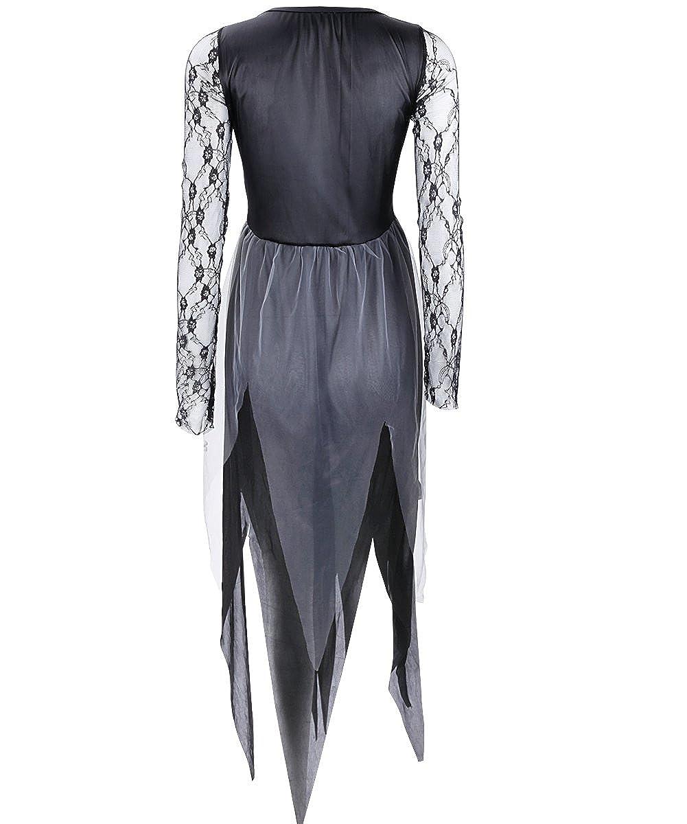 YiZYiF Donna donne Vampire Costume da strega Halloween sera Costume Cosplay  Costume da donna con fascia per capelli nero XL  Amazon.it  Abbigliamento 27e0f3050de7