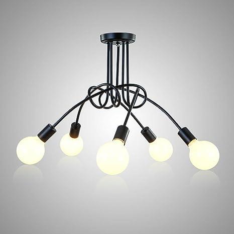OYGROUP pendiente moderna decoración de la lámpara de techo para el hogar dormitorio Comedor Bar Cafe Shop 5 bombillas