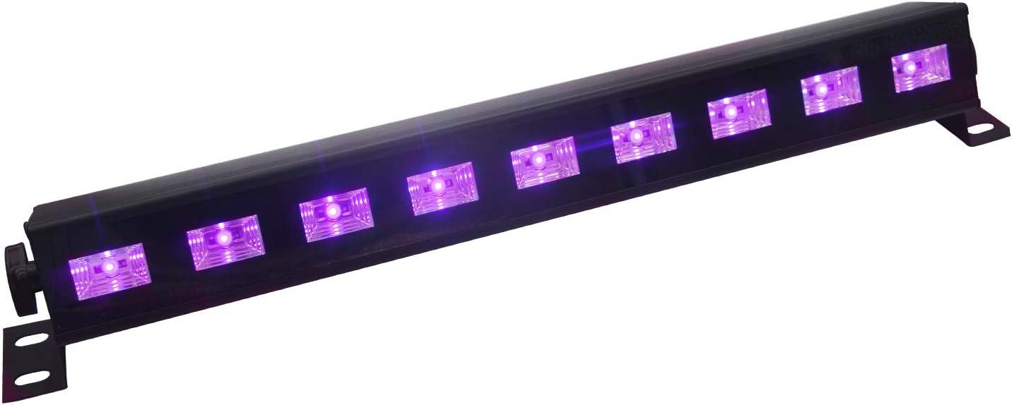 UV Luz Negra,Eleganted Ultravioleta Led Barra 9 LEDs x 3W Lámpara de Escenario UV Luces para fiestas Etapa Disco DJ Club Boda Iluminación (9Leds x 3W, UV)