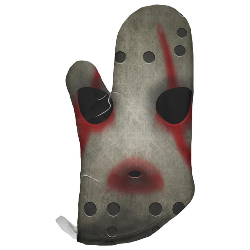Old Glory Halloween Horror Movie Hockey Mask All Over Oven Mitt Multi Standard One Size