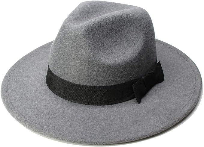 GHC gorras y sombreros Wome Men Fedora Black Ribbon Hat, Sombrero ...