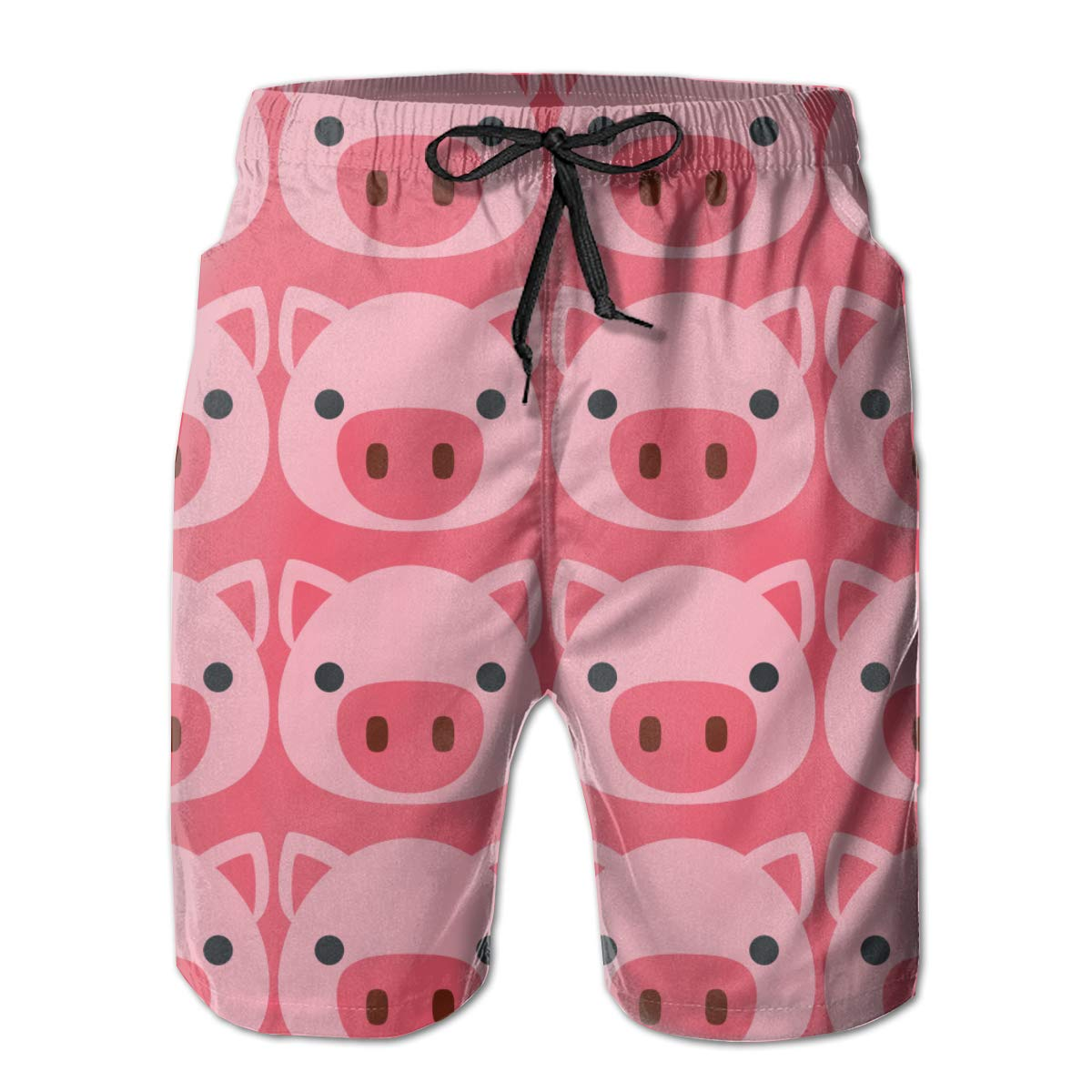 Pink Pig Faces Mens Summer Beachwear Sports Running Swim Board Shorts Mesh Lining