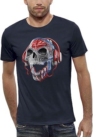 Camiseta CRANEO TRANSPARENTE AURICULARES DJ - PIXEL EVOLUTION - Hombre: Amazon.es: Ropa y accesorios