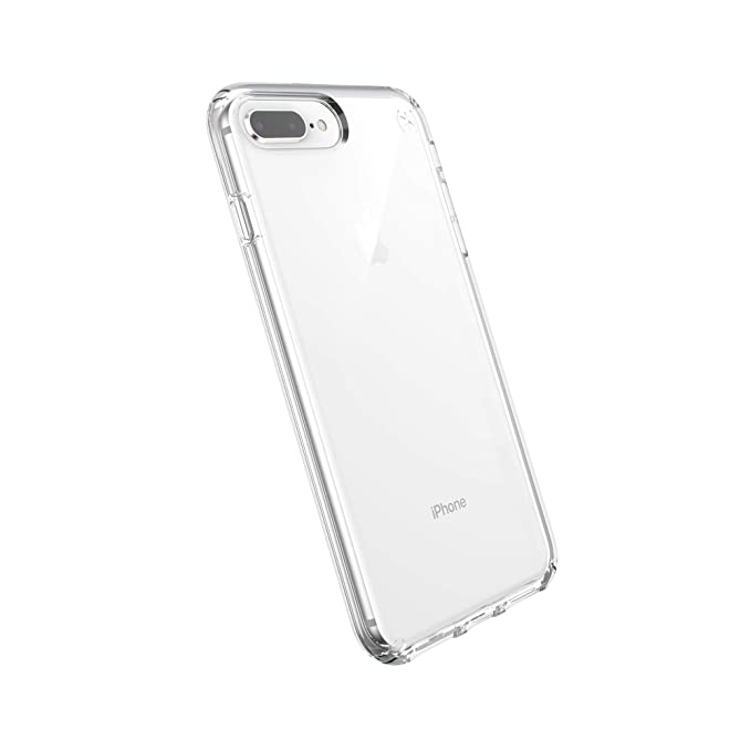 reputable site 29488 f21f6 Speck Phone Case Compatible with Apple iPhone 8 Plus/iPhone 7 Plus/iPhone  6S Plus, Presidio Stay Clear Case, Clear/Clear