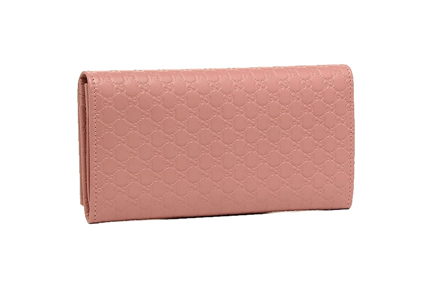 348df792a16a Gucci Women's Signature GG Micro Guccissima Continental Flap Long Bifold  Leather Wallet - Soft Pink 449396 BMJ1G 5806: Amazon.co.uk: Luggage