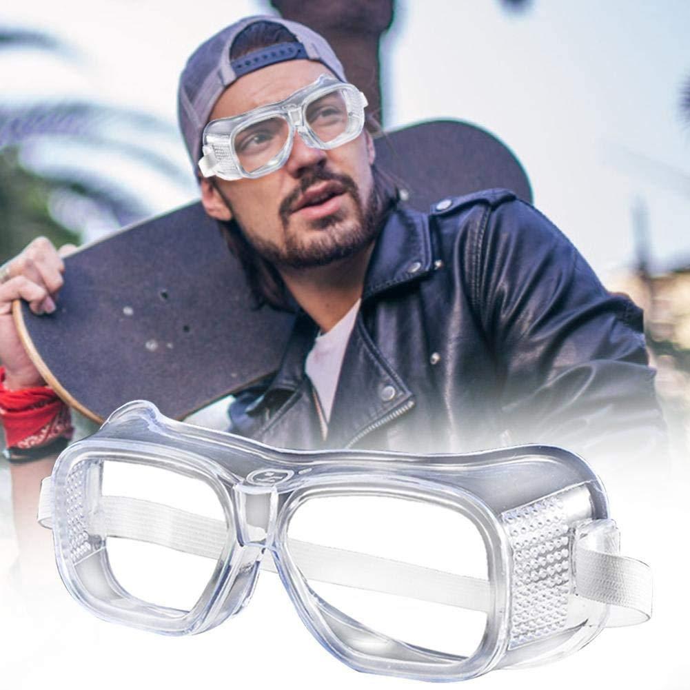 Gafas de Seguridad Gafas Protectoras Lentes de Seguridad Antivaho, para Laboratorio, Agricultura, Industria (Blanco-2)