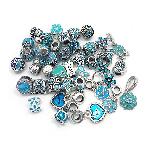 (YIQIFLY 40pcs Jewelry Making Charms Rhinesotone Beads Assorted Colors and Styles Randomly (02))