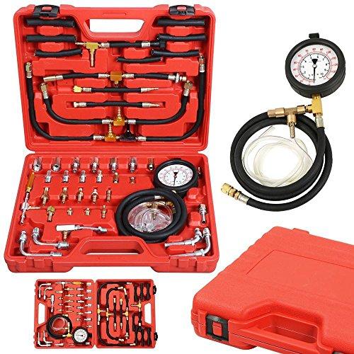 Go2buy Deluxe Universal Manometer Fuel Injection Pressure Tester Gauge Kit 0-140 PSI