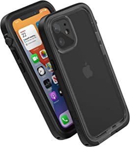 Catalyst 33ft Waterproof Case Designed for iPhone 12 Mini - Drop Proof 6.6ft, Clear Back, Compatible with Crux Accessories Cases - Stealth Black