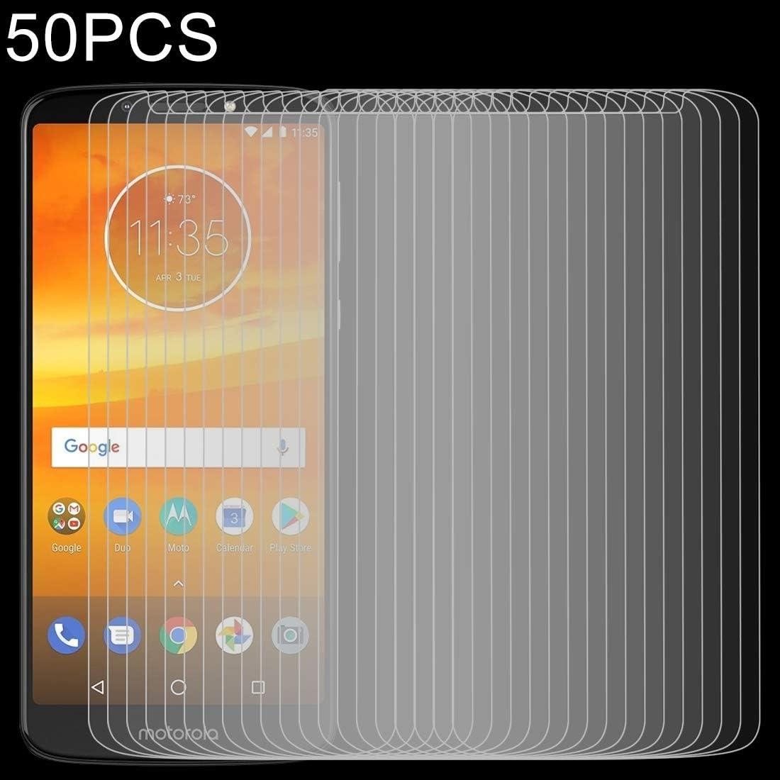 GzPuluz Glass Protector Film 50 PCS 0.26mm 9H 2.5D Tempered Glass Film for Motorola Moto E5 Plus