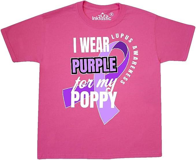 inktastic I Wear Purple for My Poppy Lupus Awareness Baby T-Shirt
