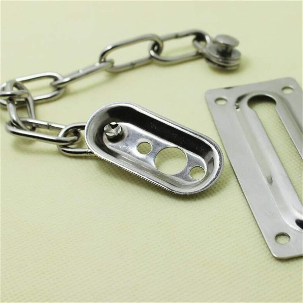 Security Lock Latch for Inside Door LSRONG Door Chain Lock Home Garage Stainless Steel Casting Door Security Chain Guard