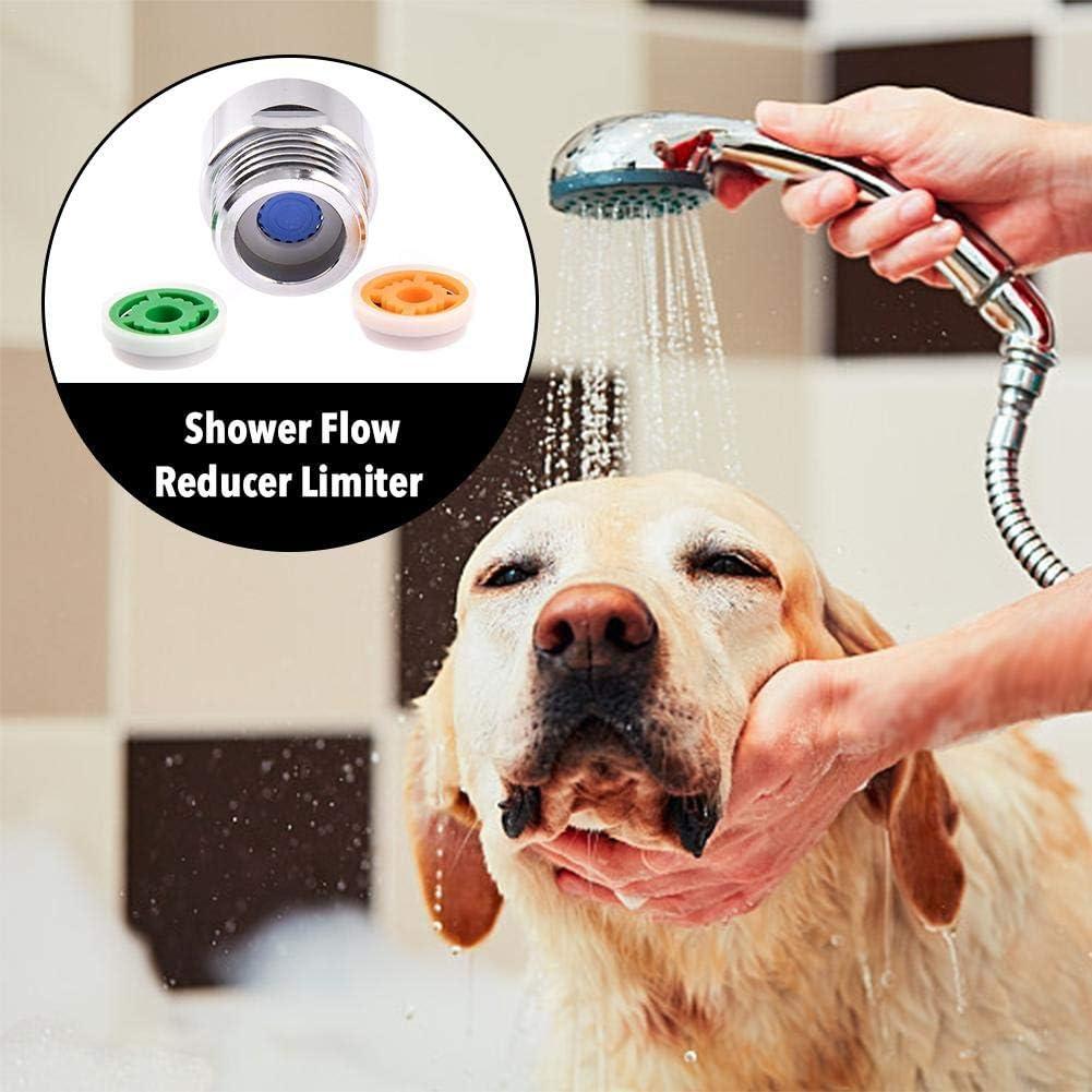 4 hasta 70 ahorro de agua 4 L//min. 6 y 9 L//min de caudal para 95 grifos de ducha Set de limitador de desag/üe de ducha
