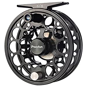Piscifun Sword Fly Fishing Reel with CNC-machined Aluminum Alloy Body 3/4 Black
