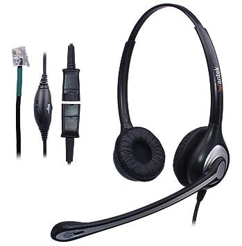 Casque Téléphone Fixe Filaire Dual Avec Micro Anti Bruit Et Quick