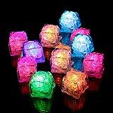 Wenini LED Ice Cubes Decorations - 12 pcs Party