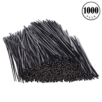 feeko twist ties,1000pcs plastic twisted wire harness tie twisted tie cable  tie 5""